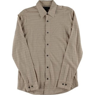 Private Label Mens Wool Blend Knit Button-Down Shirt - S