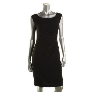 Calvin Klein Womens Lace-Overlay Sleeveless Wear to Work Dress - 10