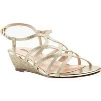 Pink Paradox London Women's Opulent Wedge Sandal Gold Glitter