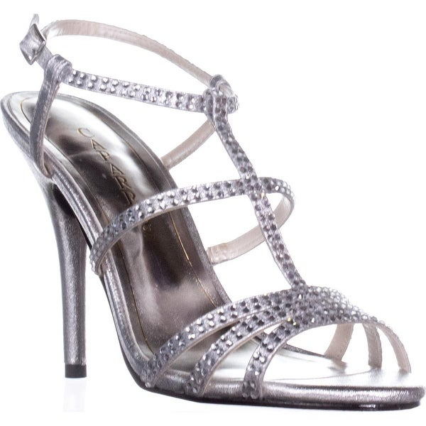 Caparros Groovy Embellished Evening Sandals, Silver Metallic - 7 us