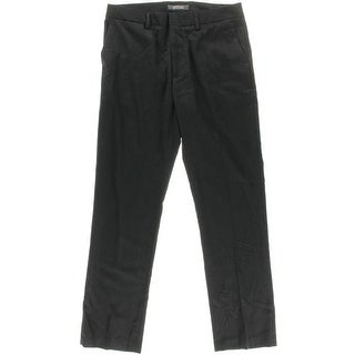 Kenneth Cole Reaction Mens Shadow Stripe Flat Front Dress Pants