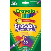 Crayola Erasable Colored Pencils, Assorted Colors, Pack of 36