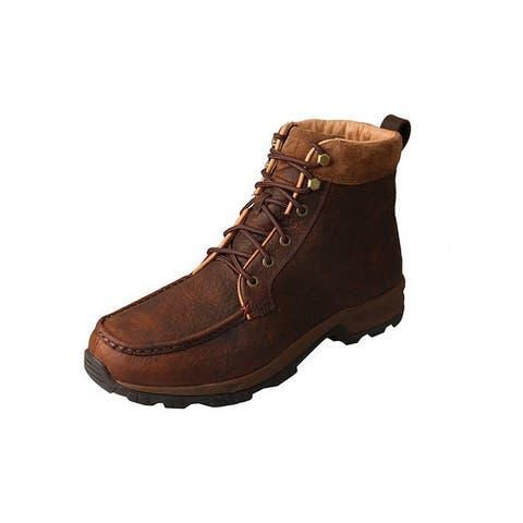Twisted X Work Shoes Mens Hiker Leather Waterproof Dark Brown