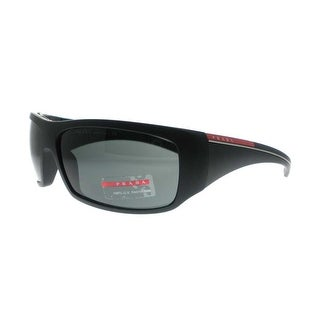 PRADA Shield SPS 01L Men's 1BO-1A1 Black Black Gray Sunglasses - 65mm-15mm-125mm