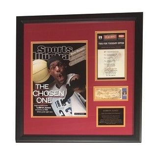 LeBron James Autographed Cleveland Cavaliers Signed High School Framed Program Ticket JSA COA