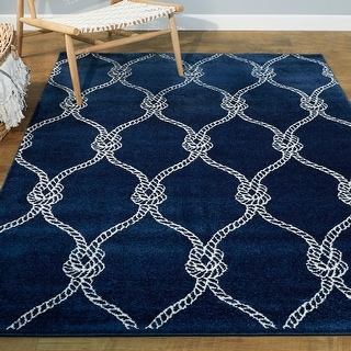 Link to Fischer Nautical Trellis Coastal Area Rug Similar Items in Rugs