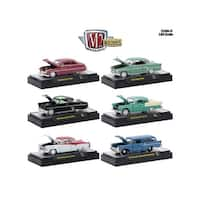 Auto Thentics 6 Piece Set Release 47 IN DISPLAY CASES 1/64 Diecast Model Cars by M2 Machines