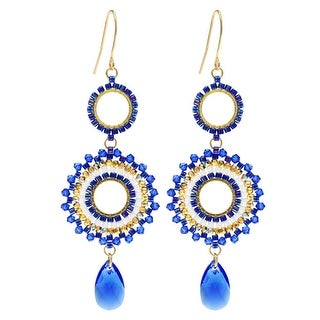 Beaded Statement Earrings featuring Swarovski Crystals - High Seas - Exclusive Beadaholique Jewelry Kit