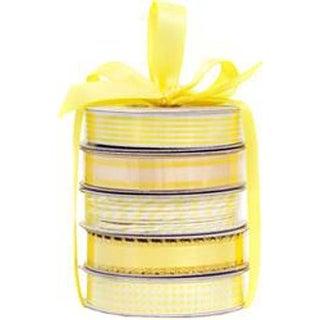 Spring Yellow - American Crafts Premium Ribbon & Twine 5-Packs