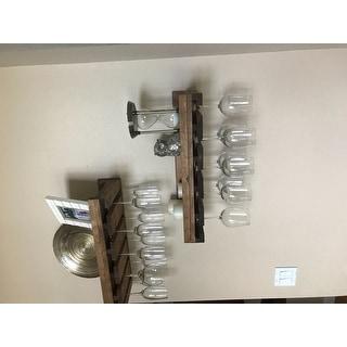 Del Hutson Designs Rustic Luxe Stemware Shelf Set
