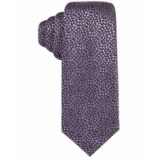 Alfani Purple Men's One Size Breton Abstract Skinny Neck Tie