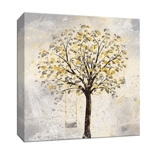 """PTM Images 9-147141  PTM Canvas Collection 12"""" x 12"""" - """"Americana Tree"""" Giclee Trees Art Print on Canvas"""
