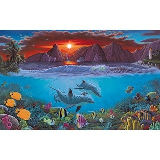 """Paint By Number Kit 15.375""""X11.25""""-Ocean Life"""