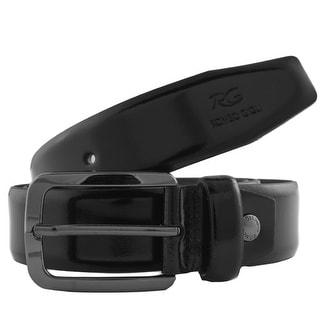 Romeo Gigli J280/35 NERO Black Leather Adjustable Belt
