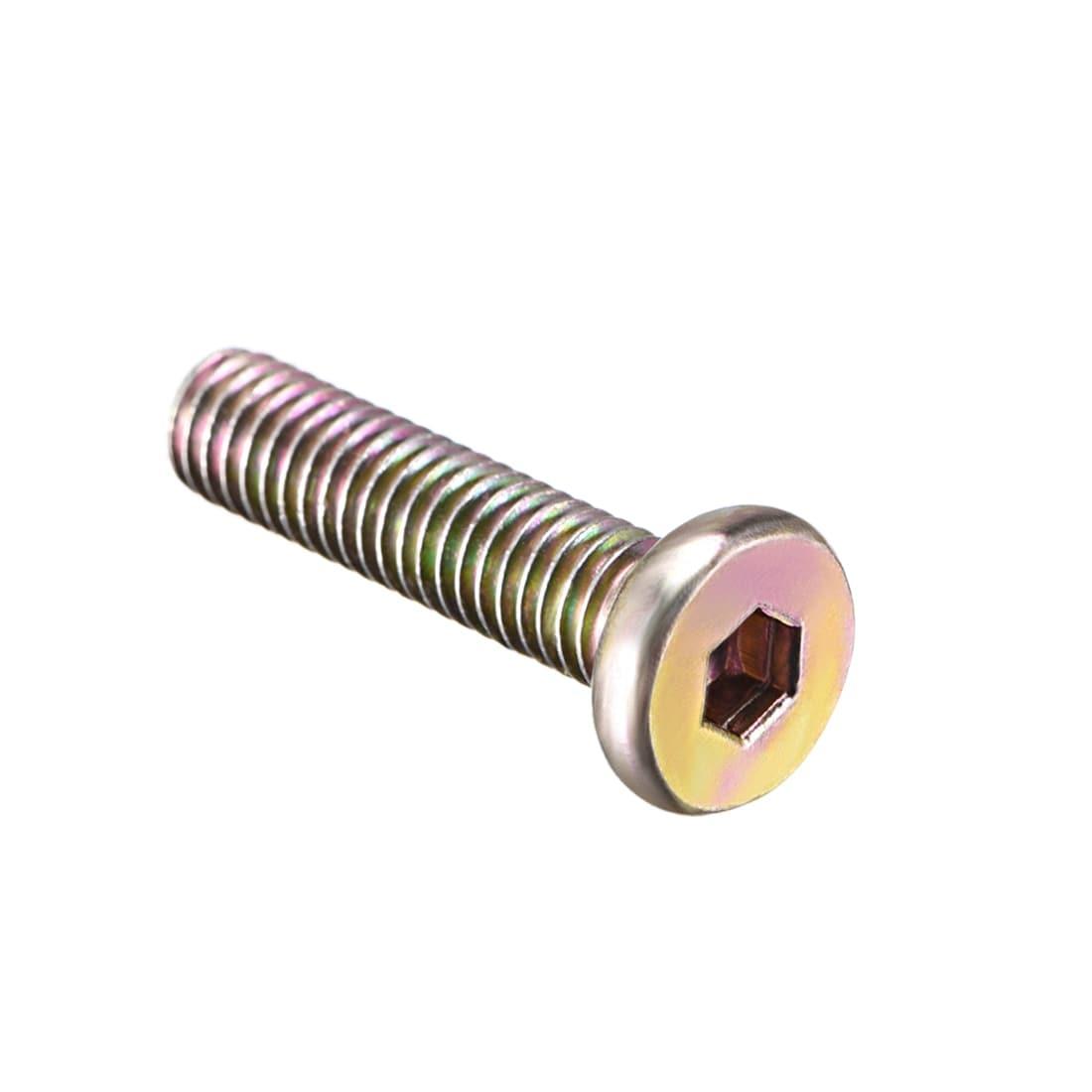 Details about  /100pcs M6 x 25mm Furniture Screw-in Nut Bolt Fastener Hex Socket Insert Nuts