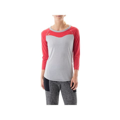 Asics Two Tone Women's Raglan Colorblock Tee T-Shirt Top
