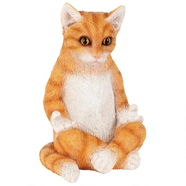 """9"""" Meditating Indoor/Outdoor Zen cat Statue - N/A"""