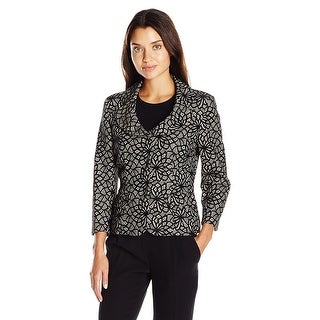 Kasper Bonded Lace 3/4 Sleeve Three Button Jacket - 6