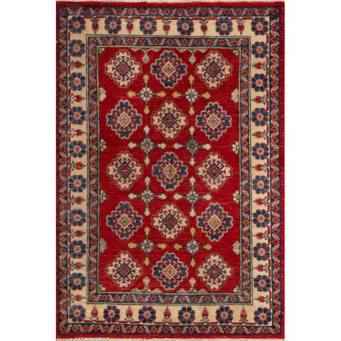 """Momeni Heirlooms Kazak Hand Knotted Wool Red Area Rug - 4' X 6'5"""""""