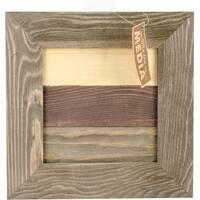 "Jillibean Soup Mix The Media Framed Shiplap 10""X10""-Framed Wooden Shiplap"