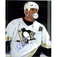 Signed Leclair John Pittsburgh Penguins 8x10 Photo autographed