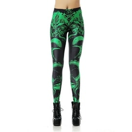 Fashion Lady Pattern Printed Snake Pattern Stretch Tight Leggings Skinny Pants
