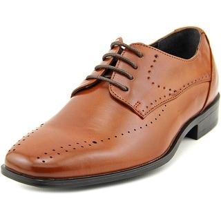 Stacy Adams Atwell Youth Bicycle Toe Leather Brown Oxford