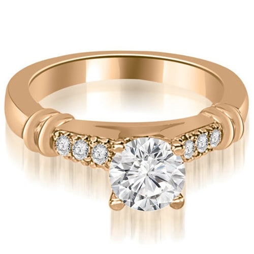 0.65 cttw. 14K Rose Gold Round Cut Diamond Engagement Ring