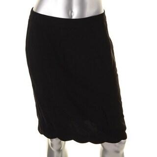 CeCe by Cynthia Steffe Womens Knit Scalloped Trim Pencil Skirt - 4