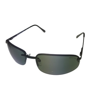 Kenneth Cole Reaction Men Sunglass Black Rimless Rectangle Solid Green KC1227 2N - Medium