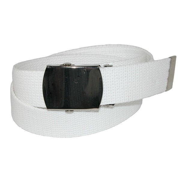 CTM Big /& Tall Cotton Belt with Nickel Finish Buckle Pack of 3