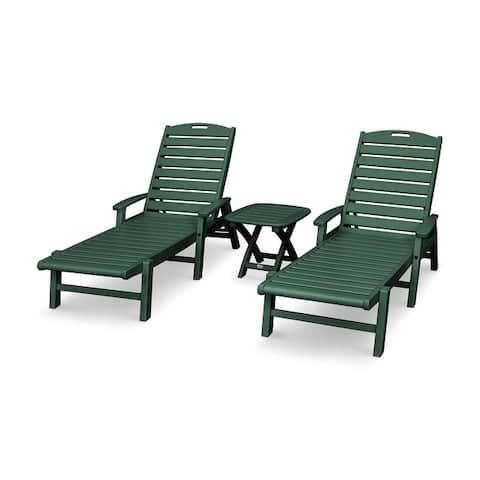 Trex Outdoor Furniture Yacht Club 3-Piece Chaise Set
