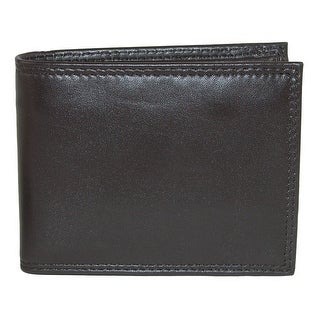 Buxton Men's Emblem Leather Zip-Convertible Bifold Wallet - One size