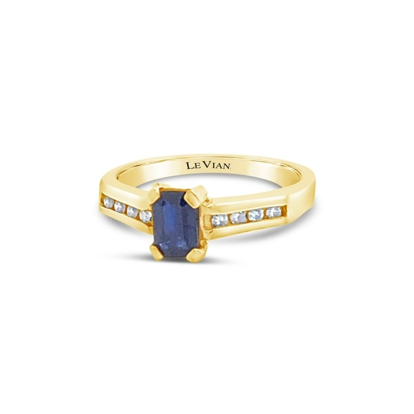 Encore by Le Vian Sapphire & Diamond 14K Yellow Gold Ring Size 7. Opens flyout.