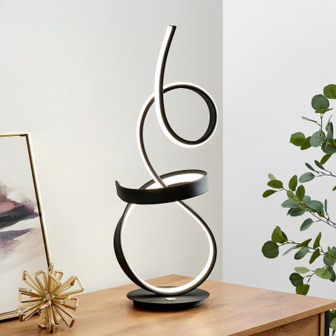 Amsterdam Table Lamp // LED Strip & Touch Dimmer