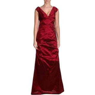 Aidan Mattox Womens Taffeta Prom Evening Dress