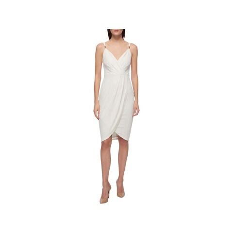 Guess Womens Slip Dress Metallic Printed