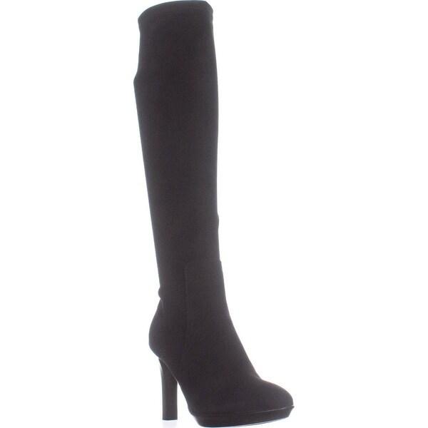 Aquatalia Rumbah Knee High Boots, Black Suede - 8.5 us