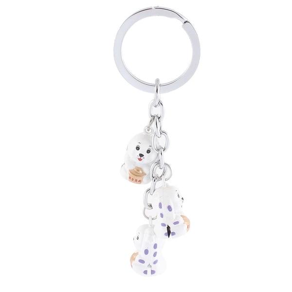 Shop Unique Bargains Silver Tone White 3 Dangling Dog