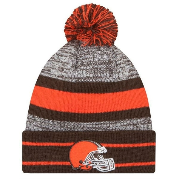 huge discount a3f5f 00e54 Shop New Era 2019 NFL Cleveland Browns Cuff Pom Knit Hat Beanie Stocking  Winter Skull - Free Shipping On Orders Over  45 - Overstock - 27994379