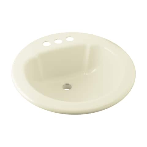"Sterling 75020140 19"" Vikrell Drop In Bathroom Sink With Three Holes Drilled And Overflow"