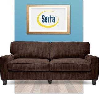 "Serta RTA Palisades Collection 73"" Sofa in Kingston Brown"