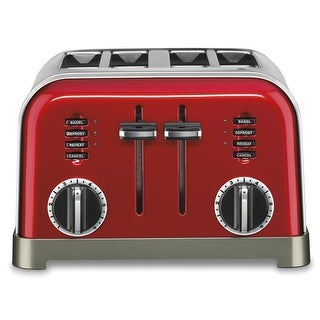4-Slice Toaster Metallic Red Metal Classic Metal Classic 4-Slice Toaster Metallic Red