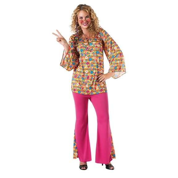 Big Mama Hippie Costume Adult Plus - Pink  sc 1 st  Overstock.com & Shop Big Mama Hippie Costume Adult Plus - Pink - Free Shipping On ...