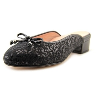 Taryn Rose Faigel Women Round Toe Canvas Black Mules