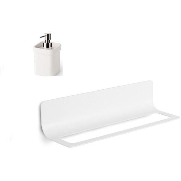 "WS Bath Collections Curva 5145+5152 Curva 26"" Wall Mounted Towel Bar - White / White"