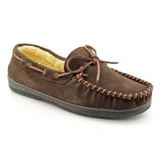 Slippers International Arizona Men Moc Toe Suede Brown Moccasin Slippers Shoes