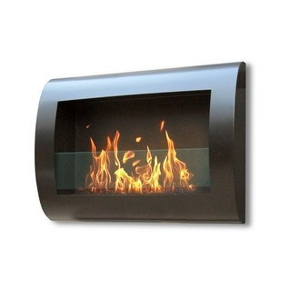 Anywhere Fireplace 90202 Indoor Wall Mount Fireplace Chelsea Model Black