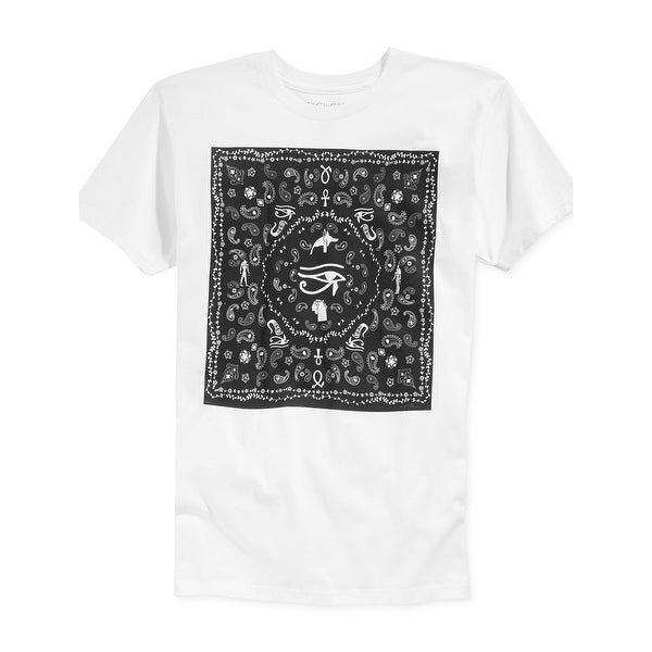 Ring of Fire Egypt Bandana Graphic Crewneck T-Shirt Black and White Shirt