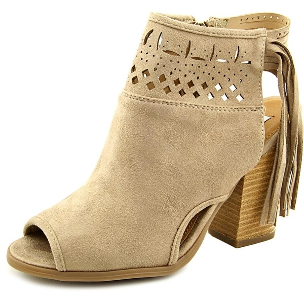 Not Rated Chiara Women Open-Toe Canvas Bootie